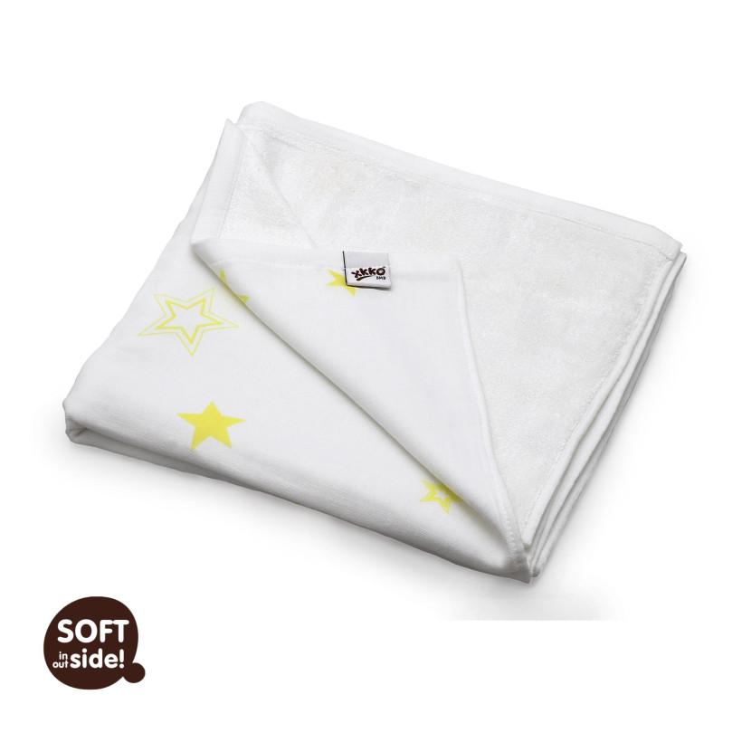 Bamboo blanket XKKO BMB 130x70 - Lemon Stars