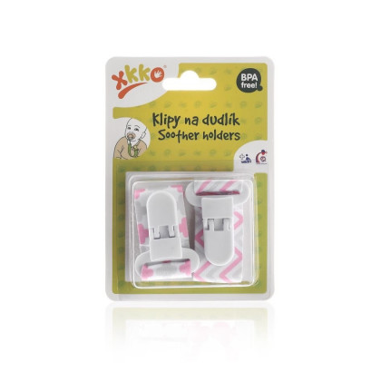 Soother Clips XKKO - Scandinavian Baby Pink MIX