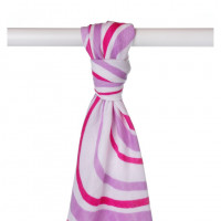 Bamboo muslin towel XKKO BMB 90x100 - Lilac Waves 10x1pcs (Wholesale packaging)