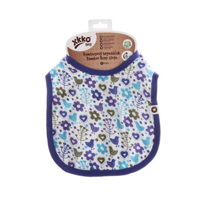 Bamboo Burp Cloth XKKO BMB - Flowers&Birds Boys (with PUL)