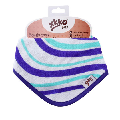 Bamboo bandana XKKO BMB - Ocean Blue Waves