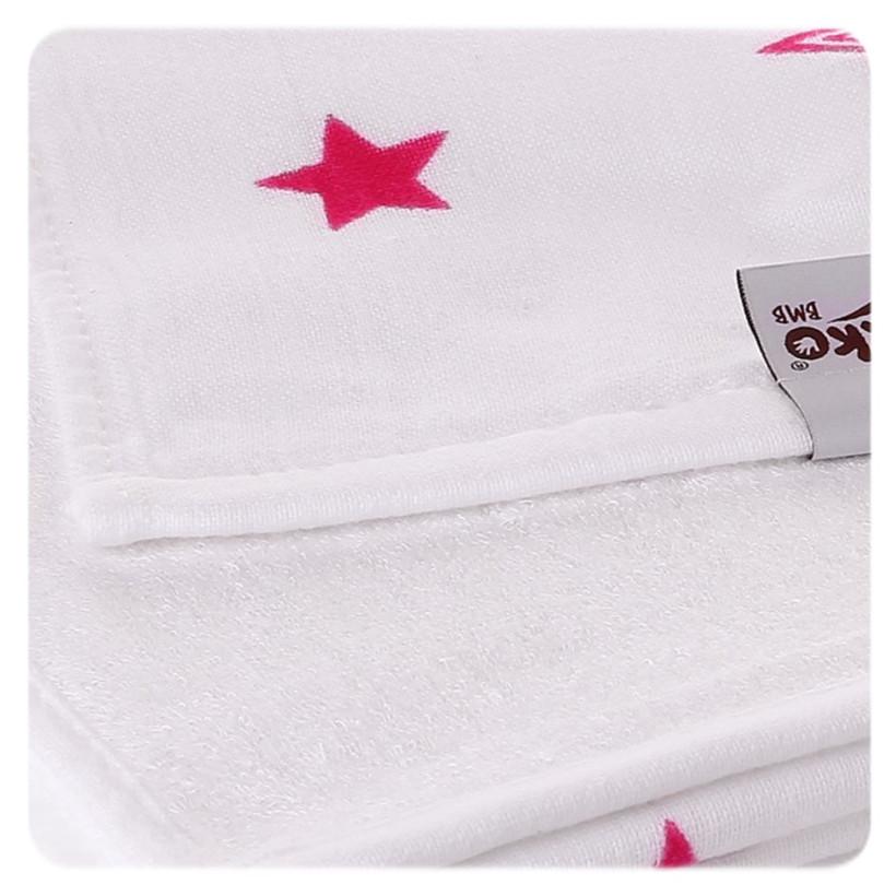 Bamboo blanket XKKO BMB 130x70 - Magenta Stars