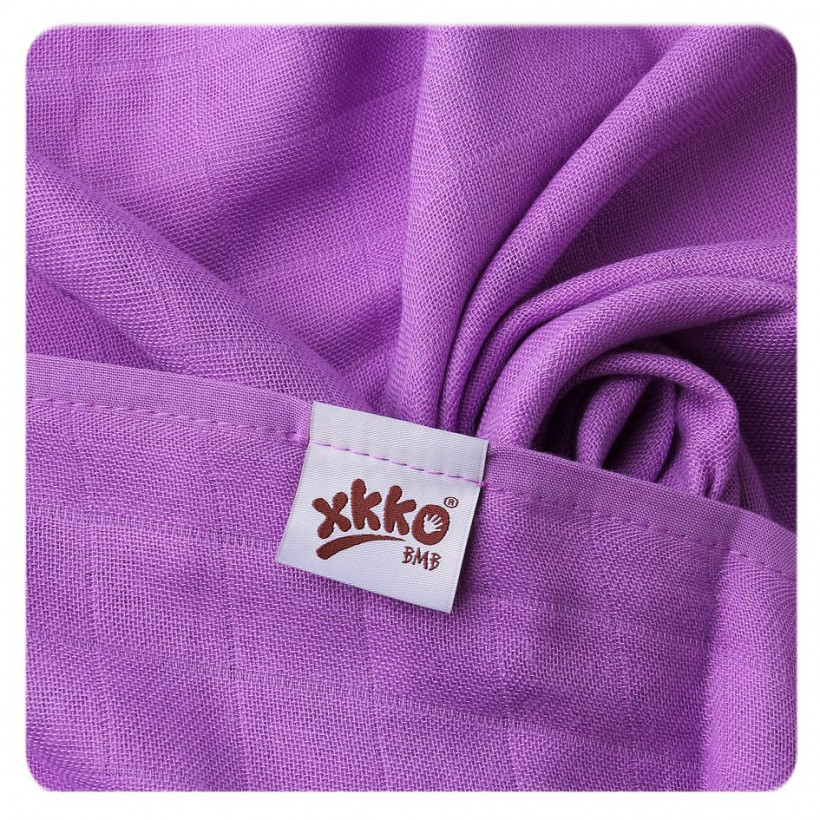 Bamboo muslin towel XKKO BMB 90x100 - Lilac