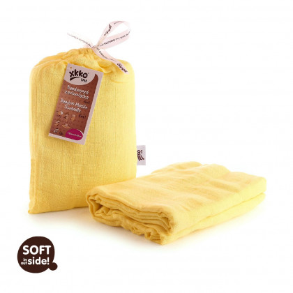 Bamboo swaddle XKKO BMB 120x120 - Lemon