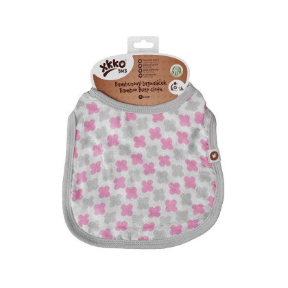 Bamboo Burp Cloth XKKO BMB - Baby Pink Cross