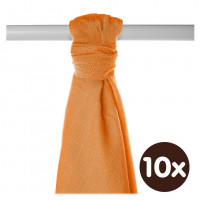 Bamboo muslin towel XKKO BMB 90x100 - Orange 10x1pcs (Wholesale packaging)