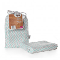 Bamboo swaddle XKKO BMB 120x120 - Mint Chevron
