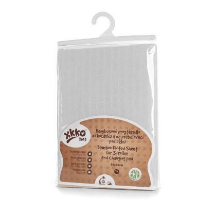 Bamboo muslin fitted sheet XKKO BMB 50x70 - White