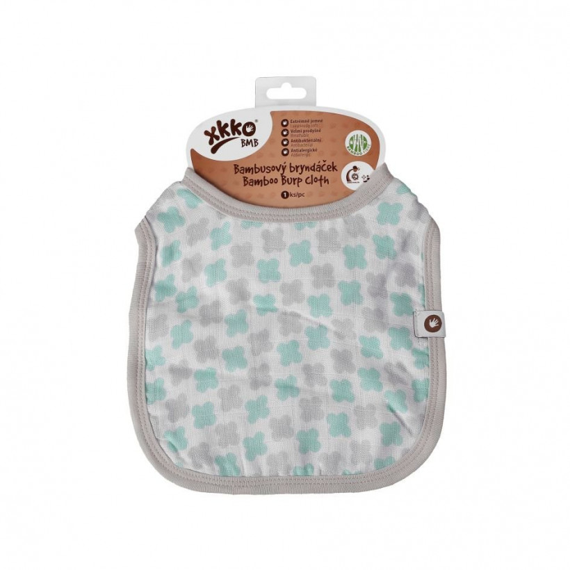 Bamboo Burp Cloth XKKO BMB - Mint Cross