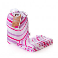 Bamboo swaddle XKKO BMB 120x120 - Lilac Waves