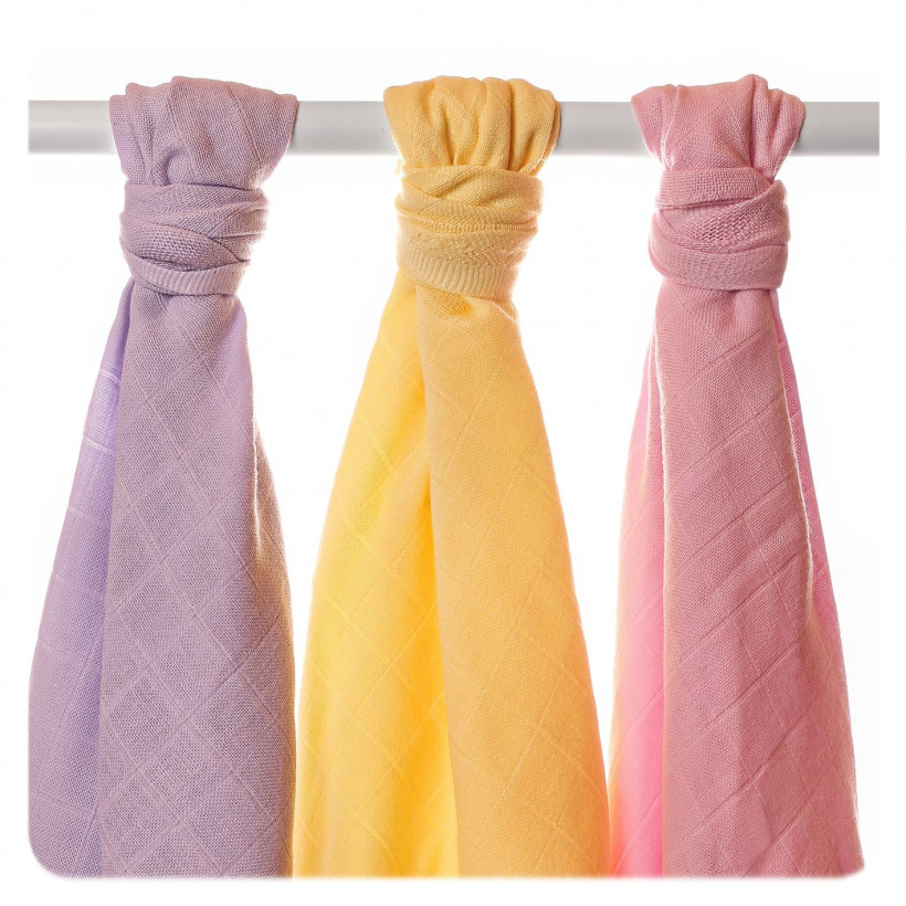 Organic Cotton Muslin Towels XKKO Organic 90x100 Old Times - Pastels For Girls