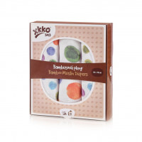 Bamboo muslins XKKO BMB 70x70 Digi - Watercolour Polka Dots MIX 3pcs
