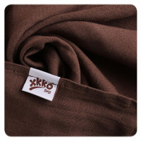 Bamboo muslins XKKO BMB 70x70 - Choco MIX 3pcs