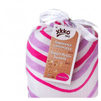 Bamboo swaddle XKKO BMB 120x120 - Lilac Waves 5x1ps (Wholesale packaging)