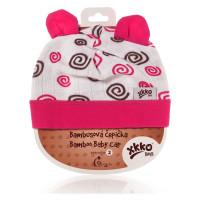 Bamboo Baby Hat XKKO BMB - Magenta Spirals 3x1ps (Wholesale packaging)