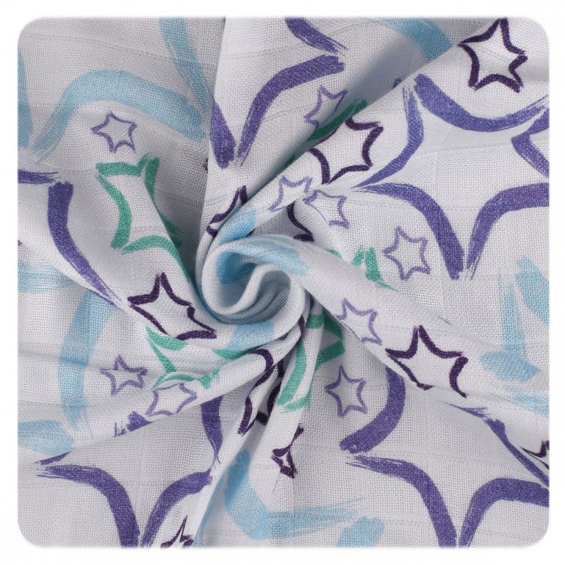 Bamboo swaddle XKKO BMB 120x120 - LE Big Blue Star