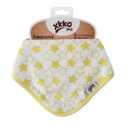 Bamboo bandana XKKO BMB - Little Stars Lemon