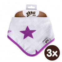 Bamboo bandana XKKO BMB - Lilac Stars 3x1ps Wholesale packing