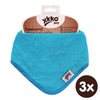 Bamboo bandana XKKO BMB - Cyan 3x1ps Wholesale packing