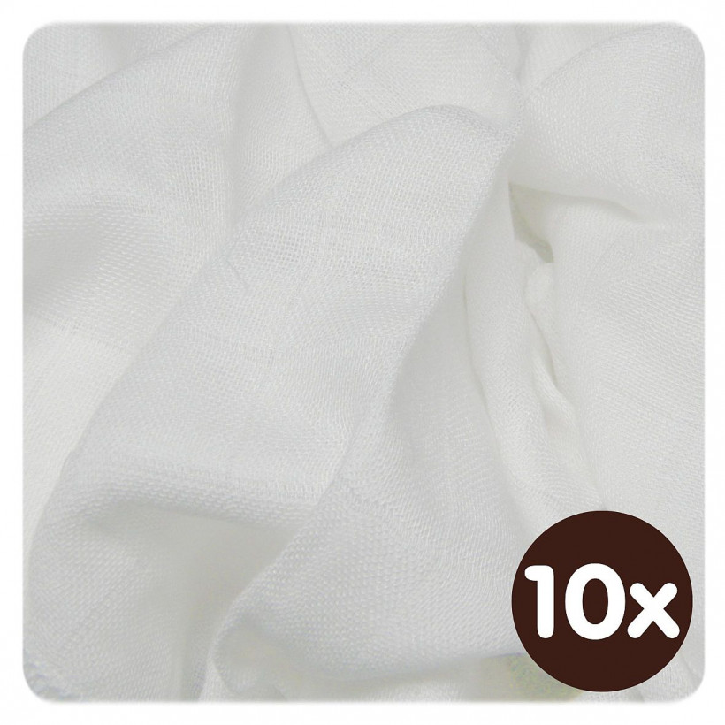 Bamboo muslins XKKO BMB 30x30 - Natural 10x9pcs (Wholesale packaging)
