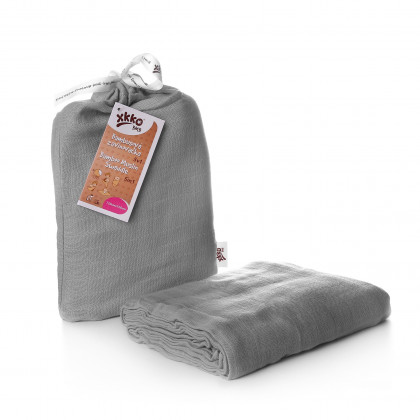Bamboo swaddle XKKO BMB 120x120 - Silver