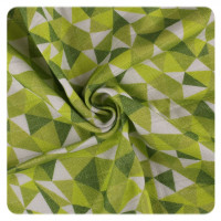 Bamboo swaddle XKKO BMB 120x120 - LE Green Triangles