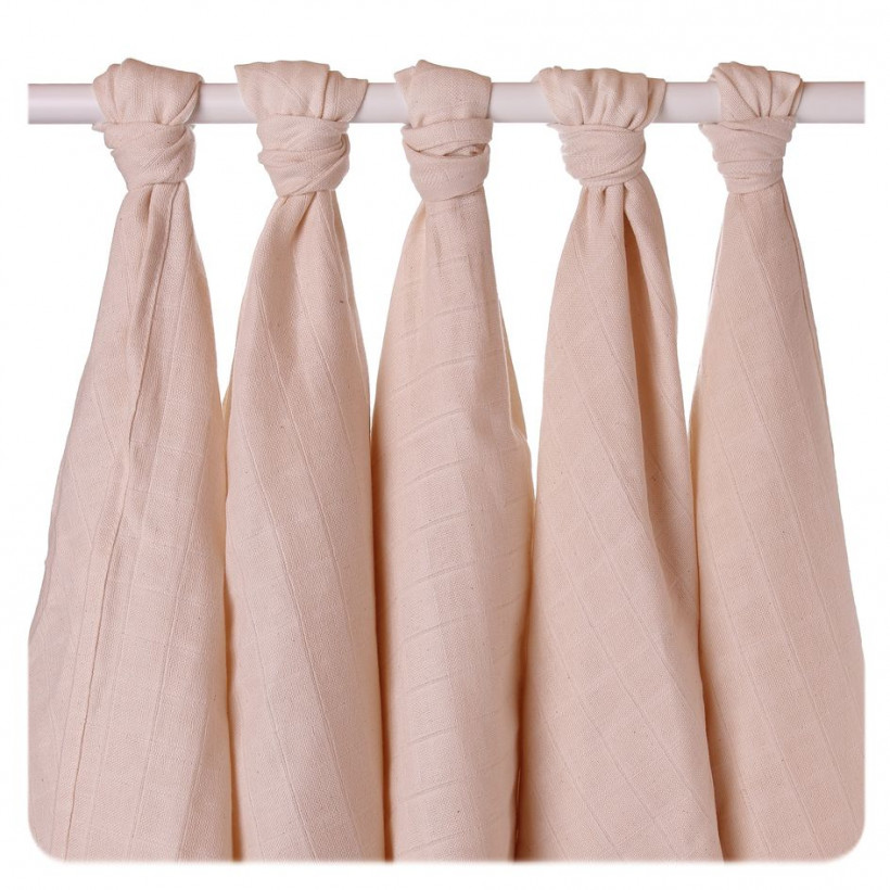 Organic Cotton Muslins XKKO Organic 70x70 Old Times - Natural 5x5ps (Wholesale pack.)