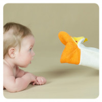 XKKO Cotton Bath Glove - Crocodille 12x1ps (Wholesale pack.)
