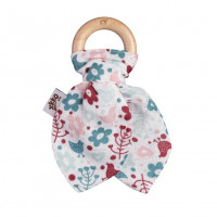 XKKO BMB Bamboo teether with Leaves - Flowers&Birds Girls