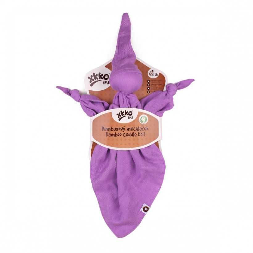 Bamboo cuddly toy XKKO BMB - Lilac