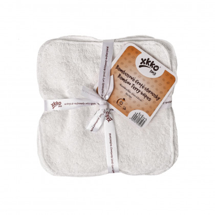 Bamboo washcloths XKKO BMB 21x21 - Natural