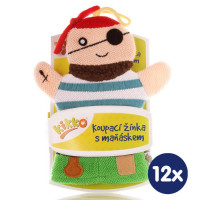 XKKO Cotton Bath Glove - Pirate 12x1ps (Wholesale pack.)